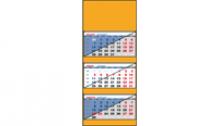 Календарь квартальный. Стандартный блок